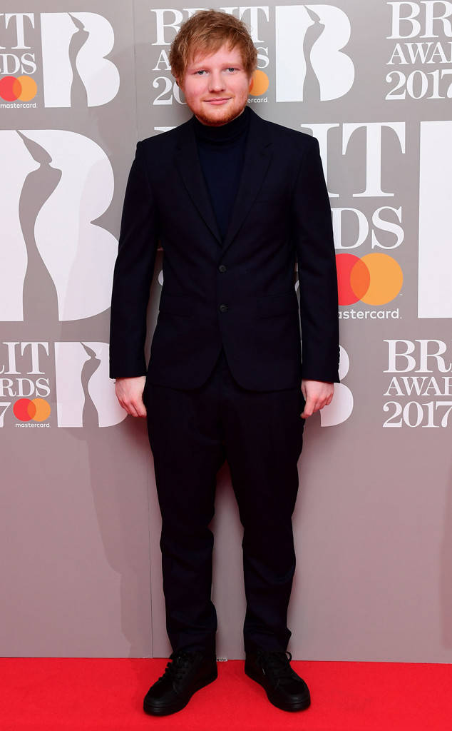 Эд Ширан фото Brit Awards 2017