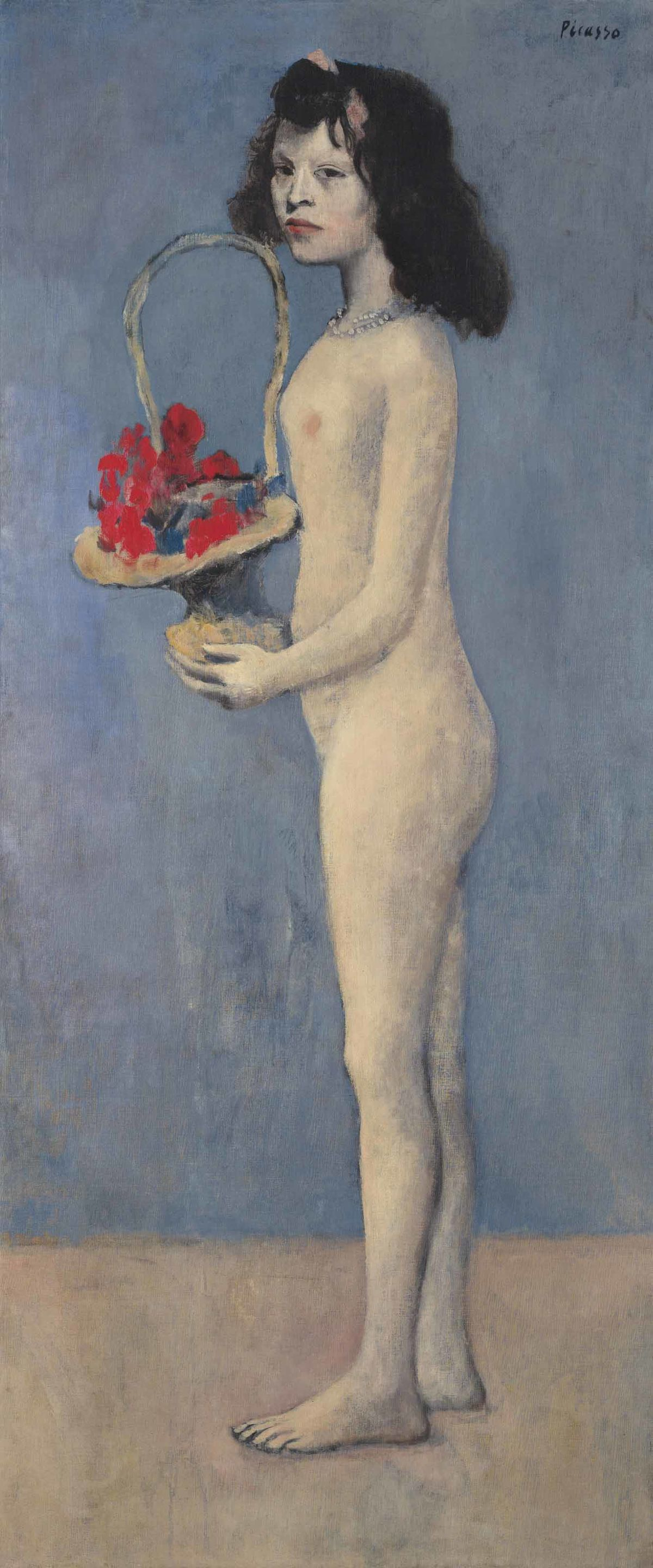 """Пабло Пикассо, """"Молодая девушка с цветочной корзиной"""" (Fillette à la corbeille fleurie)"""