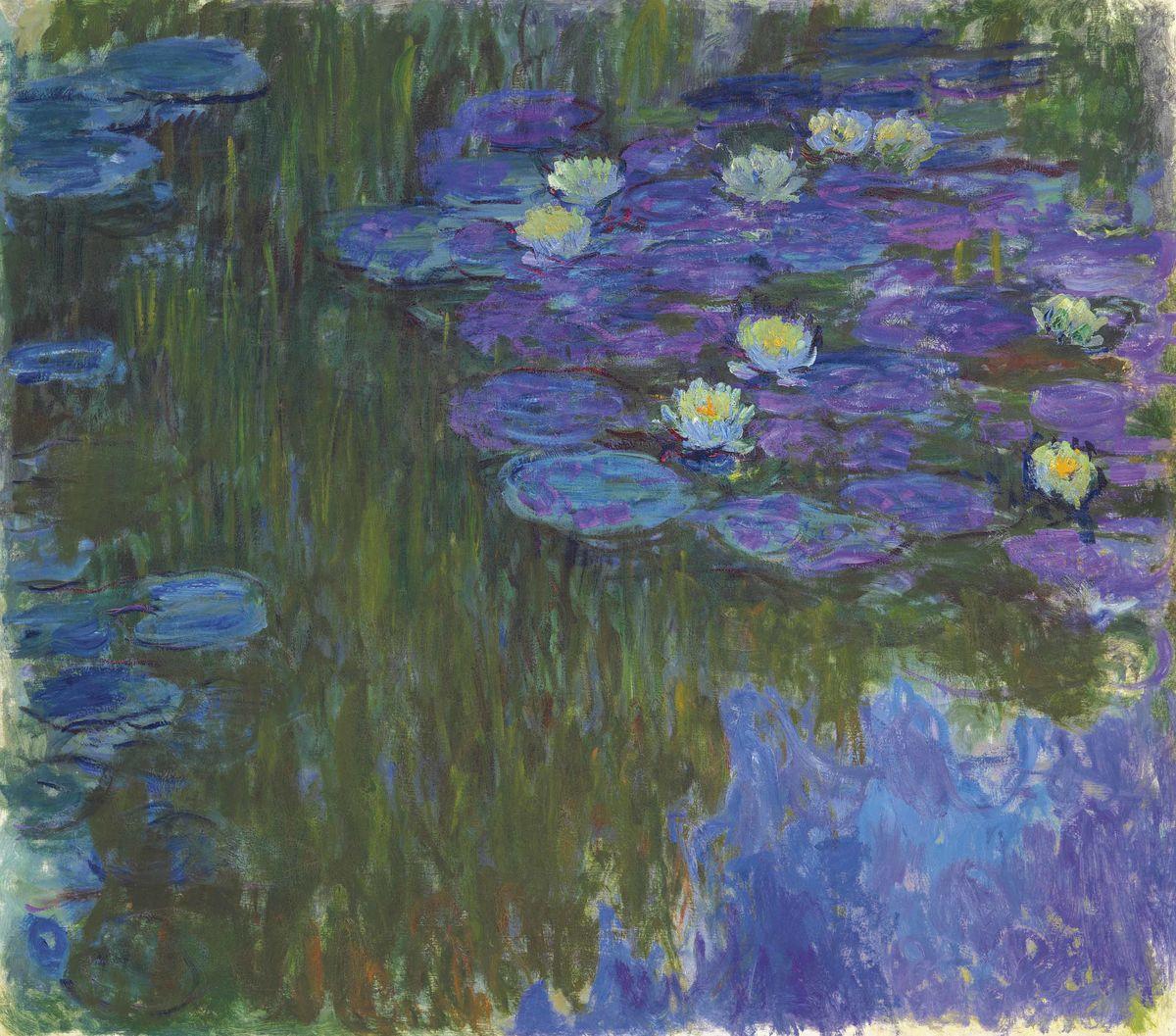 "Клод Моне (Claude Monet), ""Кувшинки в цвету"" (Nymphéas en fleur)"