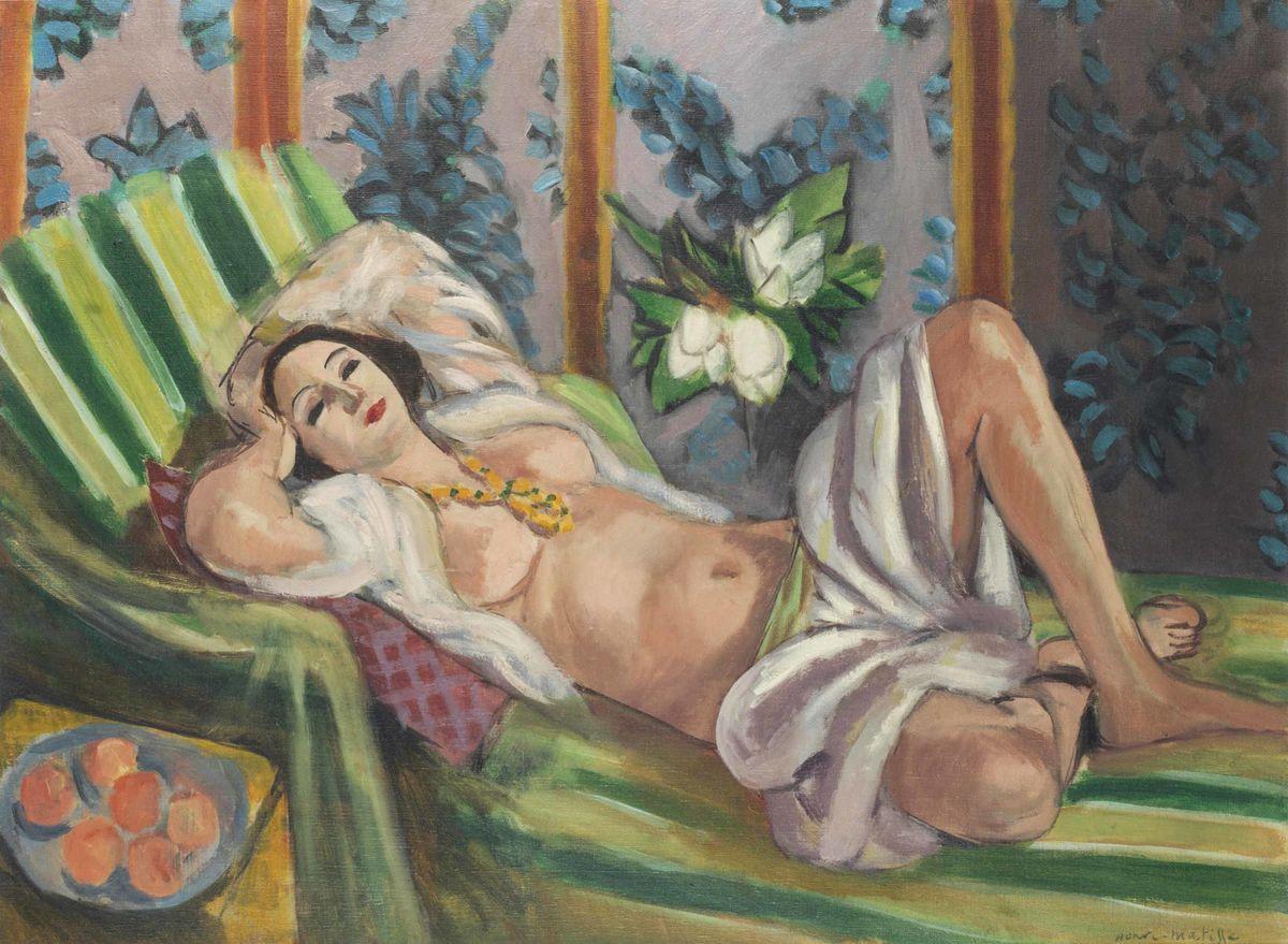 "Анри Матисс (Henri Matisse), ""Одалиска, лежащая под магнолиями"" (Odalisque couchée aux magnolias)"